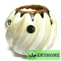 Z013 Аромалампа круглая витая 11,5см керамика