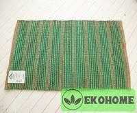 Коврик, 80% джут/20% хлопок, 75 х 120 см, зеленый