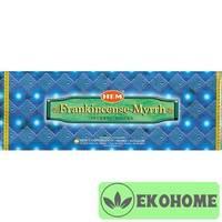 Благовония HEM 6-гр. Frank Incense Myrrh ЛАДАН - МИРРА