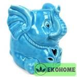 M060-5 Аромалампа Слоненок 9см керамика (цвета в ассортименте)