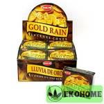Благовония HEM конусы Gold Rain ЗОЛОТОЙ ДОЖДЬ