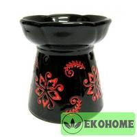 N257 Аромалампа с цветами 10см керамика
