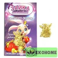 k-2043 Кошельковый зайка пара, золото, сувенир