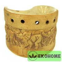 N300-48 Аромалампа Слоны 8,5х10,5см керамика