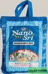 Рис Нано Шри Басмати, 1 кг (в синем мешке) (Nano Sri Indian Basmati Raw Rice)