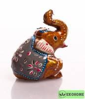Слон цирковой, 6,5 см (керамика)