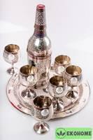 Набор для вина подарочный, 8 предметов (латунь)