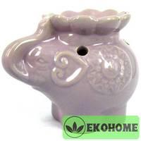 M060-7 Аромалампа Слоны 8х11х7см керамика цвета в ассортименте