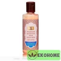 Шампунь Алоэ Вера Роза Без сульфатов (Aloe Vera Rose Shampoo SLS-free) 200 мл