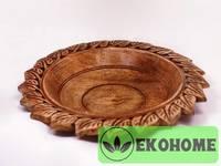 Блюдо Листочки, дерево, 35 см
