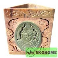 SOB 7270 Аромалампа, камень Будда 7х8см