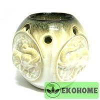 N238 Аромалампа со слонами 10см керамика