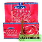 Благовония SATYA безосновные Rose Dhoop Sticks РОЗА 45гр.