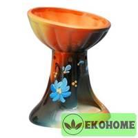 N507-045 Аромалампа ручная роспись 12см керамика