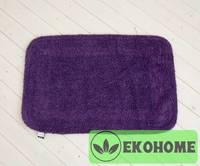 Коврик 100% хлопок, фиолетовый, 2-х сторон 51х75 см